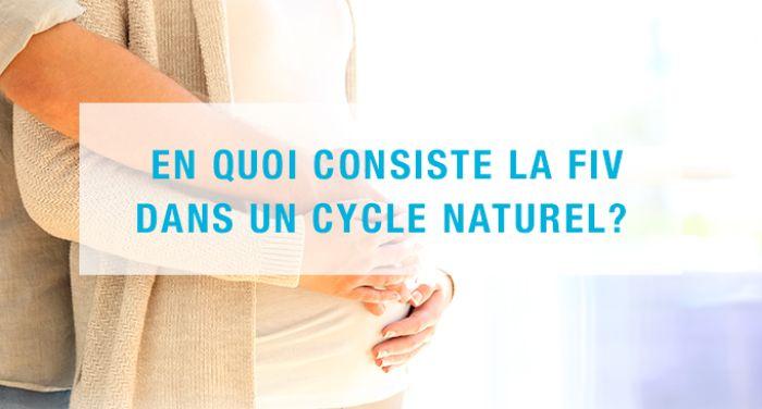 En quoi consiste la FIV dans un cycle naturel ?