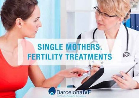 Single mothers. Fertility treatments