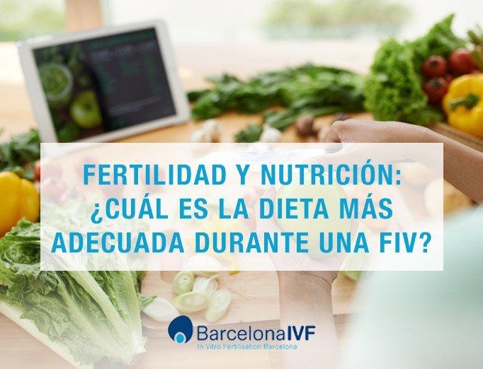 Fertilidad y nutrición durante una FIV