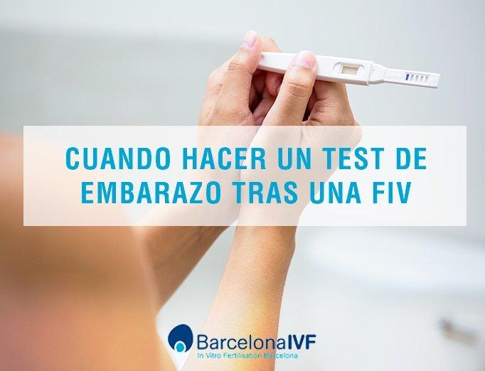 Test embarazo tras FIV